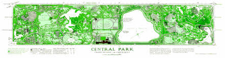 Map Central Park Greensward Foundation