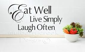 kitchen wall decal kitchen vinyl lettering eat well live zoom