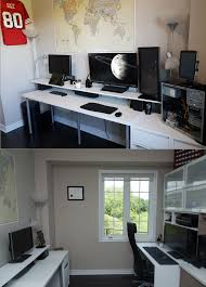 Dual Desk Home Office Re Organized My Home Office From Dual Battlestation To Triple