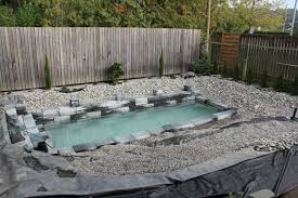 Backyards With Pools Ordinary Looking Pool Overflows To Become A Stunning All Natural Pond