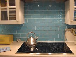 Interior  Kitchen Backsplash Glass Tile Blue For Charming New - Blue glass tile backsplash