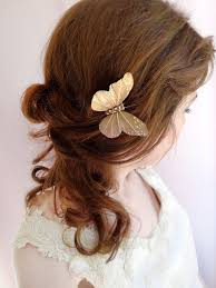 butterfly for hair jeweled butterfly hair pin gold bridal hair clip swarovski