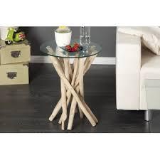 canapé bois flotté table d appoint design en bois flotte adora
