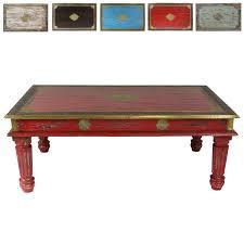 Wohnzimmer Tisch Hoch Roter Couchtisch Im Shabby Chic Stil Holz Wohnzimmertisch