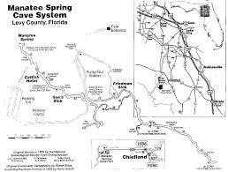 Florida Springs Map by Manatee Springs