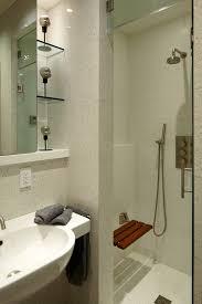 looking teak shower bench in bathroom modern with small bathroom