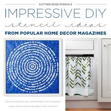 Home Decor Magazines Impressive Diy Stencil Ideas From Popular Home Decor Magazines