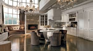kitchen with island and peninsula fine italian kitchen with marble countertops in chicago martini