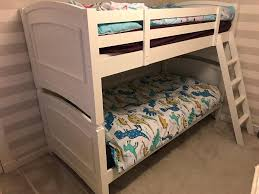 Bunk Bed With Mattress Furniture White Bunk Bed With Trundle Bunk Bed