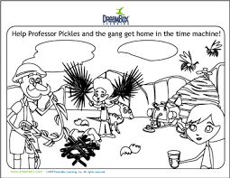 new math activity coloring page 2 professor pickles and his time