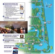 Ft Lauderdale Florida Map by Map Of The Parade Route The Seminole Hard Rock Winterfest Boat