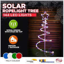 solar rope light spiral tree led multi colour o outbaxcing