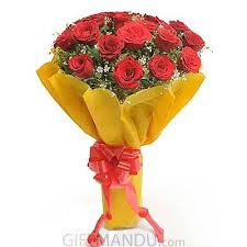 paper wrapped flowers lovely 18 roses bouquet paper wrapped send gifts to nepal