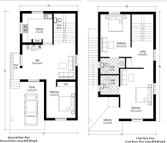 20 x 30 east facing duplex house plan