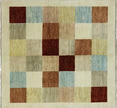 mutlicolor 5 u0027 square gabbeh rug h8586