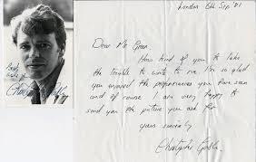 christopher gable autograph u0026 signed theatre tv u0026 movie memorabilia