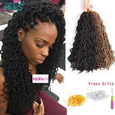 natural crochet hair natural looking curly faux locs hair extension crochet braids