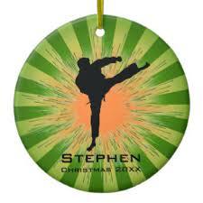 martial arts ornaments u0026 keepsake ornaments zazzle