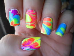 doing this this weekend you put different colors of nail polish