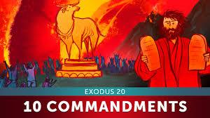 sunday lesson the ten commandments exodus 20 bible