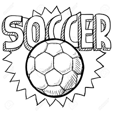 doodle style soccer or football illustration in vector format