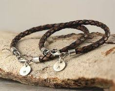 His And Hers Engraved Bracelets Couples Matching Stamped Bracelets 2 Bracelets By Informalelegance