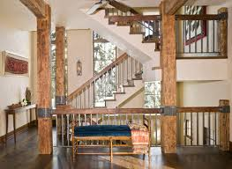 Metal Banisters Wood And Metal Railing Houzz