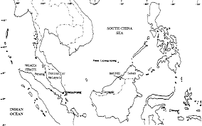 China Map Outline by Tuna Fisheries Interactions In Malaysia