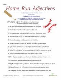adjective worksheets for kids english worksheets pinterest