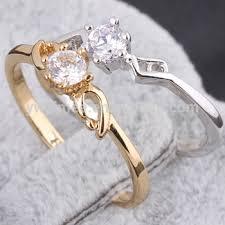 white zircon rings images Wedding ring tattoo design 925 sterling silver white zircon couple jpg