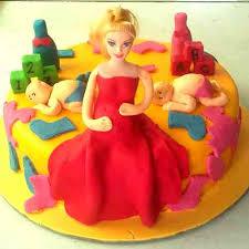 send online 2 kg pregnant woman themed fondant cake to delhi ncr