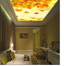 roof decoration autumn maple tree tree ceiling roof decoration murals 3d wallpaper