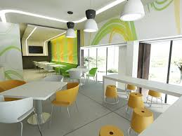 Interior Decoration Idea For Fast Food Restrurant  Food - Fast food interior design ideas