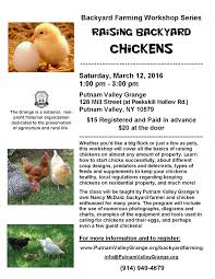 raising backyard chickens workshop