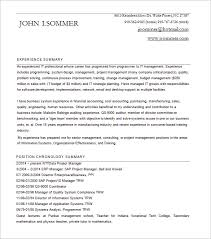 project manager resume template u2013 8 free word excel pdf format