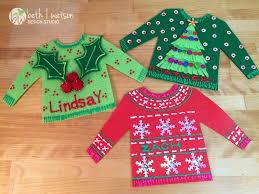 beth watson design studio personalized ugly christmas sweater