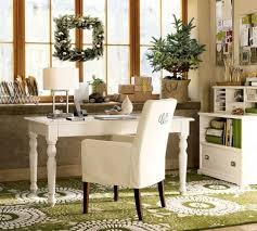 classic details for elegant home office with white desk and cozy