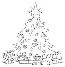 coloring page of christmas tree with presents christmas tree presents coloring book