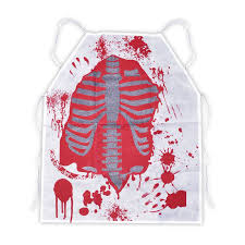 Bloody Doctor Halloween Costume Zombie Chef Bloody Apron Butcher Halloween Kitchen Fancy