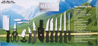 maxam 14pc outdoorsman game hunting field knife set ebay
