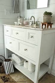 Cottage Bathroom Vanities by Powder Bathroom Vanity Makeover The Wood Grain Cottage