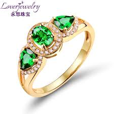 mens gold ring design 14k yellow gold green tsavorite ring designs for men with