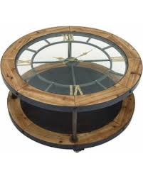 Clock Coffee Table Spectacular Deal On Classic Metal Wood Clock Coffee Table