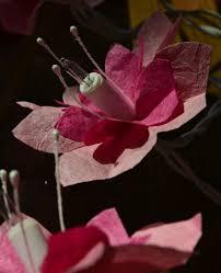 guirlande lumineuse papier japonais les fleurs ont traversé le papier papiers japonais mon univers