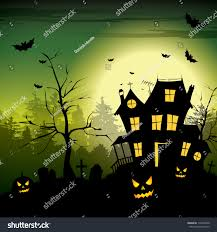 scary house halloween background stock vector 110976440 shutterstock