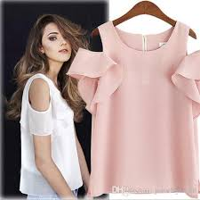blouse ruffles 2018 2017 europe fashion summer s chiffon tops blouse