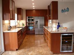 Mahogany Kitchen Designs Dazzling Brown Hardwood Mahogany Cabinets With White Glass Tiled