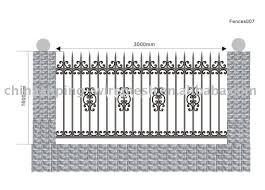 iron fence panels steel picket iron metal fence panel fence