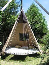 Lost In My Own Backyard Old Trampoline Turned Into A Hammock Teepee I Will Make This
