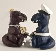 dinosaur wedding cake topper 16 wedding cake toppers for unconventional couples photos